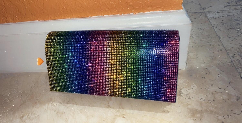 Colorful bling bag