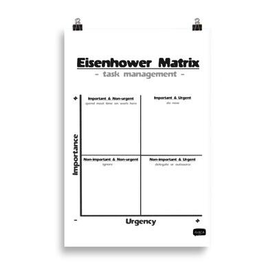 Eisenhower Matrix Poster for Task Management