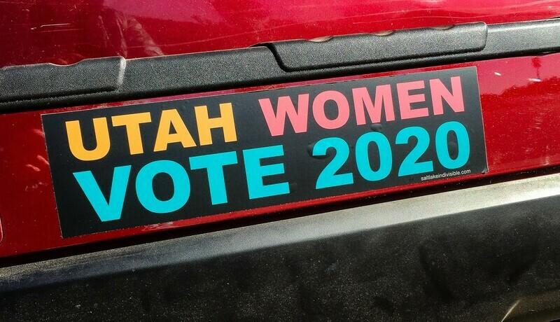Utah Women Vote 2020 Bumper Sticker
