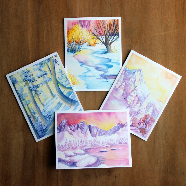 Winter Scene Greeting Cards (set of 8)