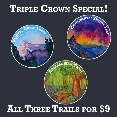 Thru Hiking Stickers! PCT, CDT and AT