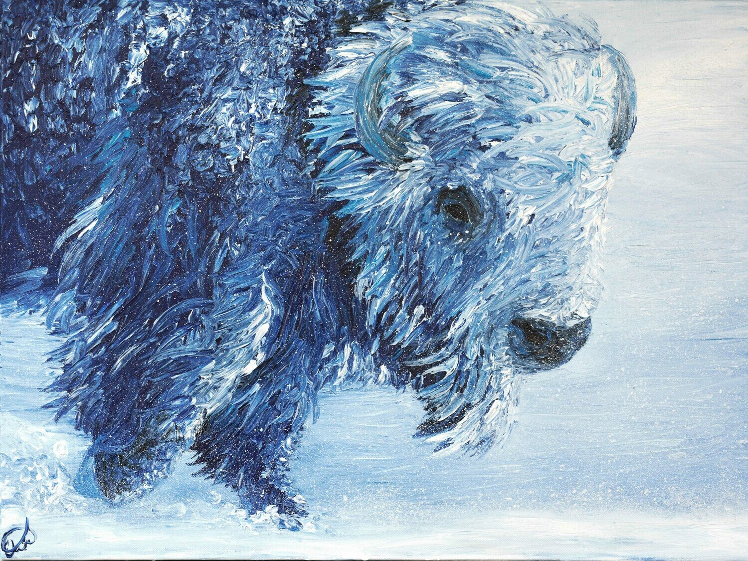 """Into an Icy Wind (18""""x24"""")"""