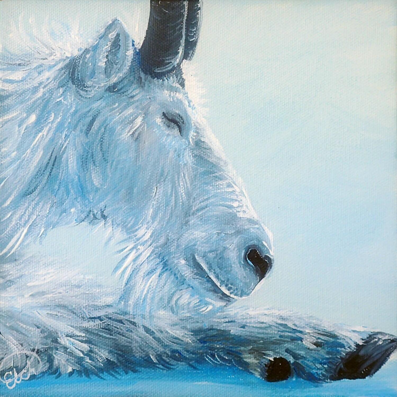 Mountain Goat Painting Mini!
