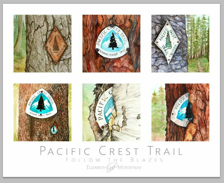 Print: Follow the Blazes: Pacific Crest Trail Blaze Poster