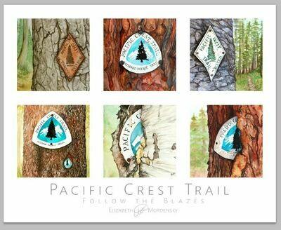 Print: Follow the Blazes: Pacific Crest Trail Blaze Poster