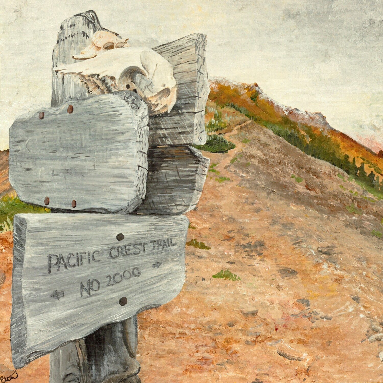 Print: A Sign at Goat Rocks