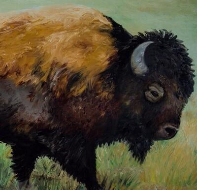 Print: Lone Bison