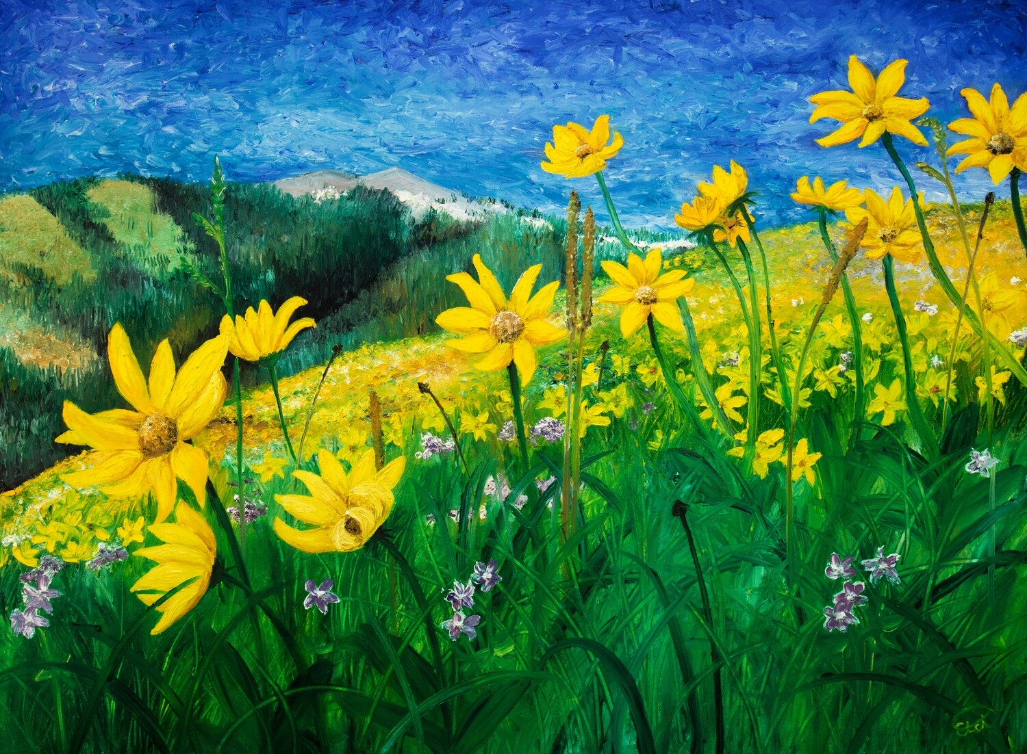 PRINT: A Time of Gold, Golden Aster
