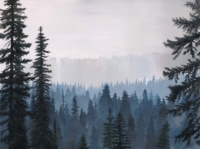 PRINT: Smoke in the Woods