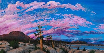 Print: A Sky of Rose: Aloha Lake