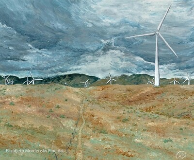 Print: Windmills in the Desert