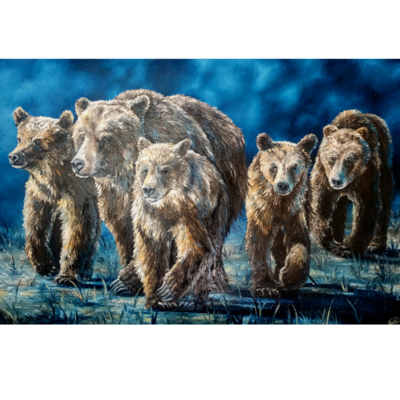 """Legacy of A Mother Bear  (72""""x48"""")"""