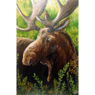 "Moose Vibes (24""x36"")"