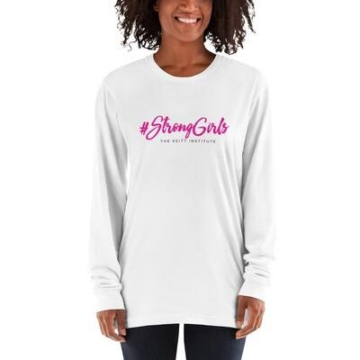 #StrongGirls Pink & Black Logo Long Sleeve Shirt