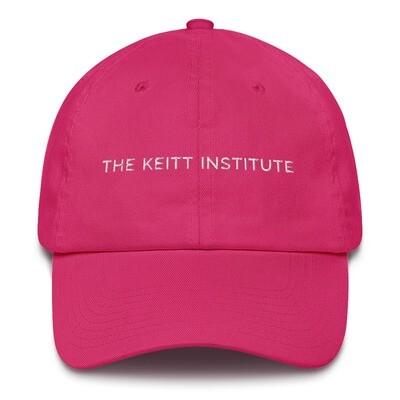Keitt Institute White Logo Dad Cap
