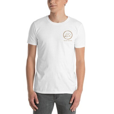 Gold Embroidered Circle Keitt Institute T-shirt