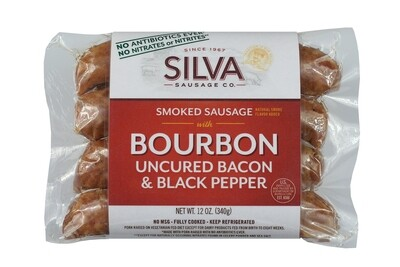 Bourbon Uncured Bacon & Black Pepper-10 packs (12oz each)
