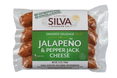 Jalapeno Pepper Jack Smoked Sausage-10 packs (12oz each)