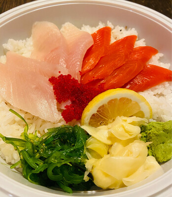 85. Tuna Salmon Donburi