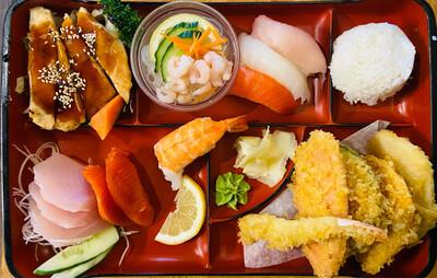 203. Sushi &Sashimi Dinner Box