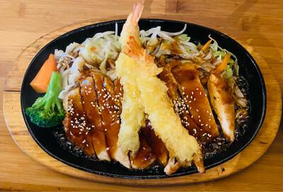 61. Chicken Teriyaki with Prawn