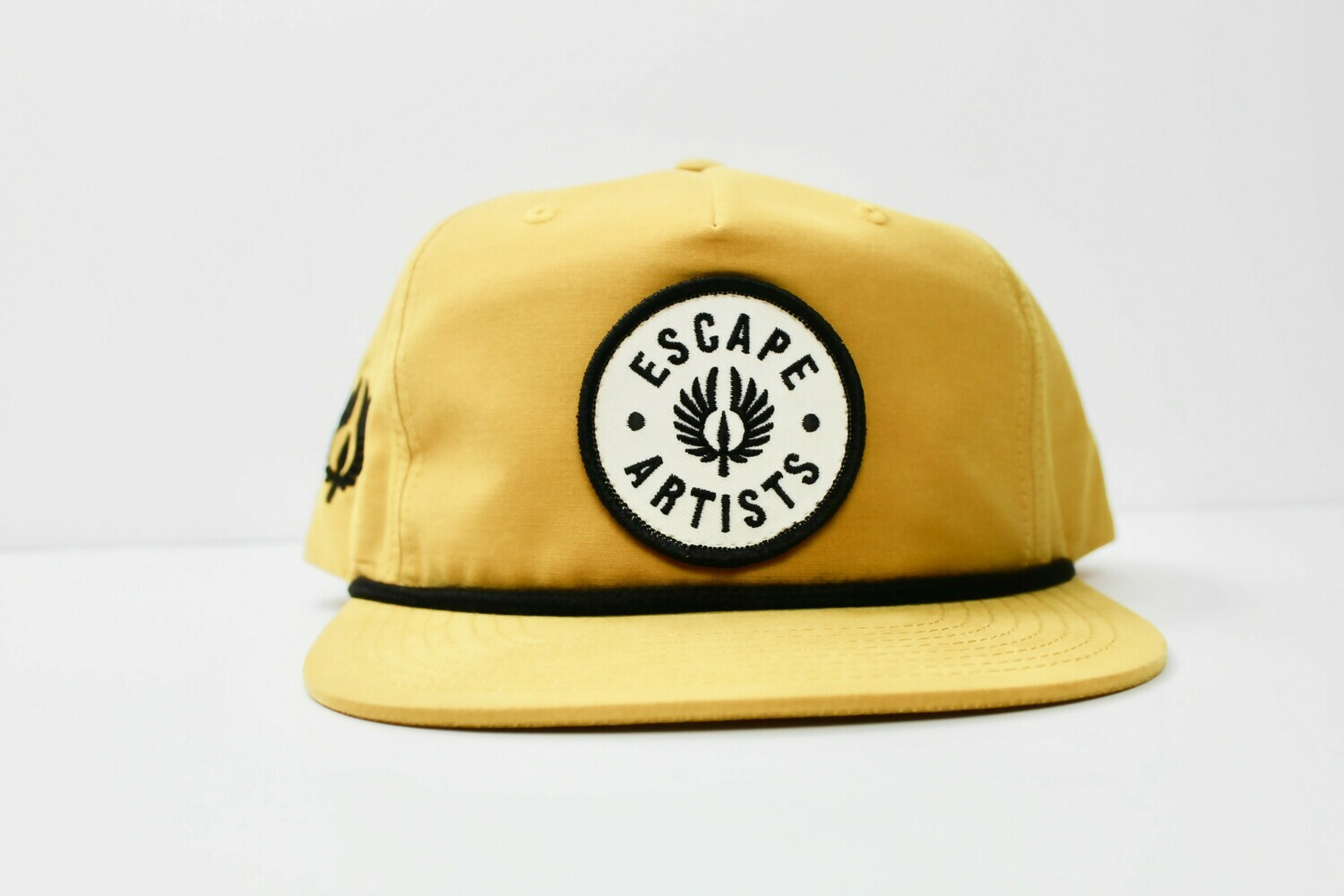 Beige 5 Panel Richardson Rope Hat - Patch Embroidery