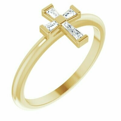 Baguette Cross Ring
