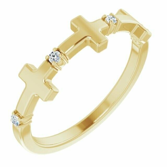 Continual Diamond Cross Ring
