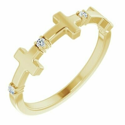 Continual Diamond Cross Ring