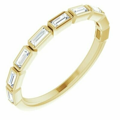 Diamond Baguette Anniversary Band