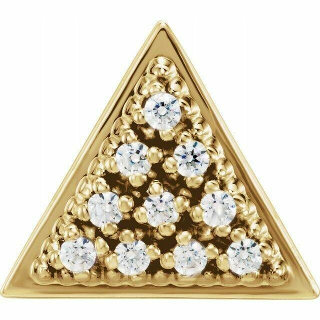 Diamond Triangle Stud