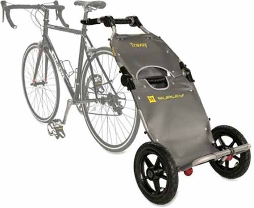 Burley Travoy Bicycle Trailer and Hand Cart-silver/black