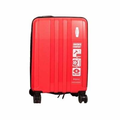 Origami Traveller Suitcase / TravelCase-Red-Small