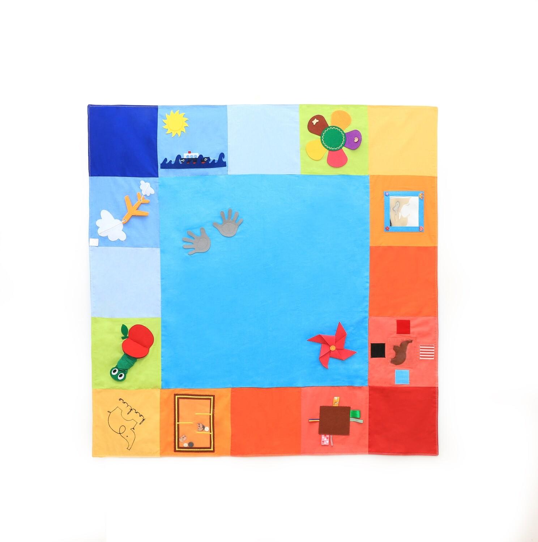 Tantino Toys Babyspielmatte Montessori Spielmatte Aktivitätsmatte Turnhalle Spielmatte Kinderzimmer Spiel Matte Bauch Zeit Matte Kleinkind Aktivität Lernspielzeug