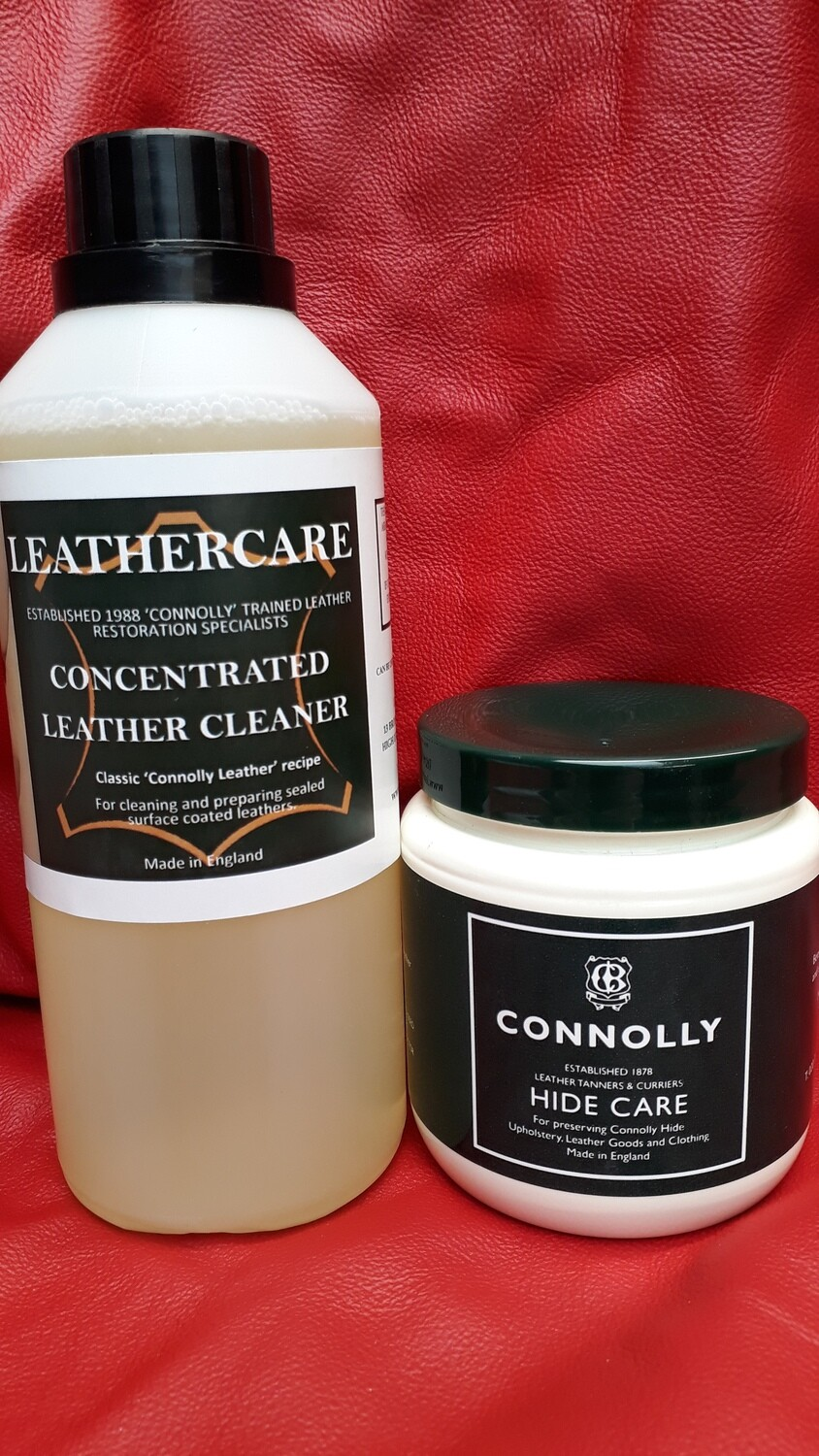 Connolly Hide Care (284ml) & Concentrated Cleaner (500ml)