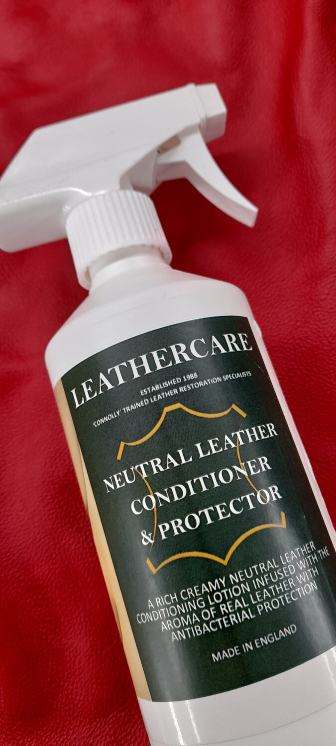 Neutral Leather Conditioner, Dye-guard & Antibacterial Protector (500ml)