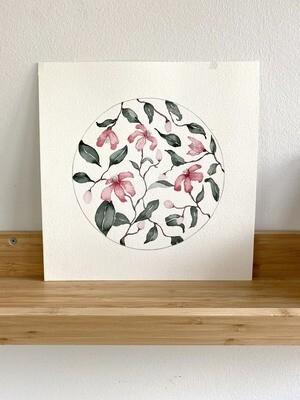 Circular Pink Florals
