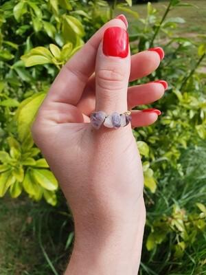 Amethyst & Rose Quartz Ring