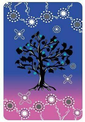 Cot/ Pram Baby Blanket- Purple Family Tree