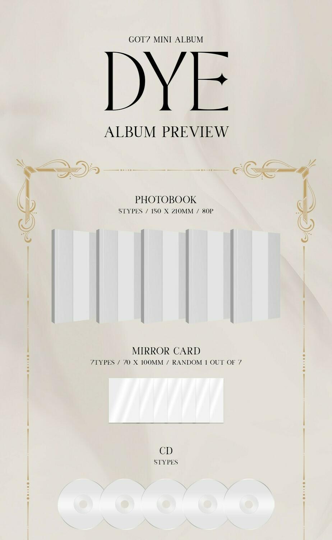 GOT7 Mini Album 'DYE' - Random Ver.