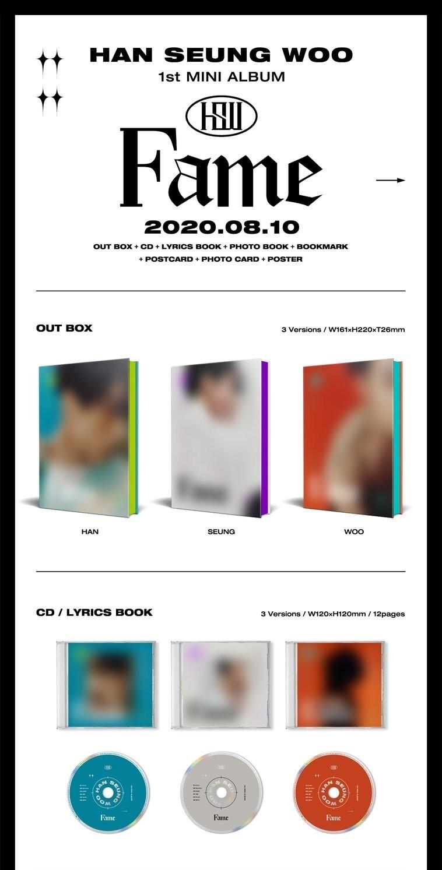 Han Seung Woo 1st Mini Album [FAME]