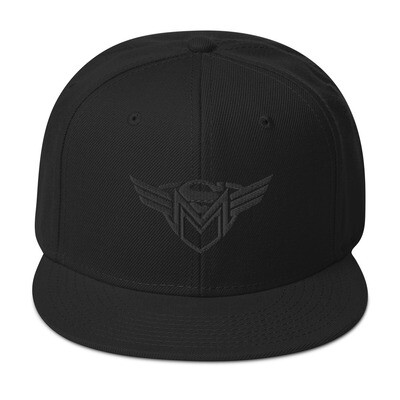 SMM Blackout Snapback Hat