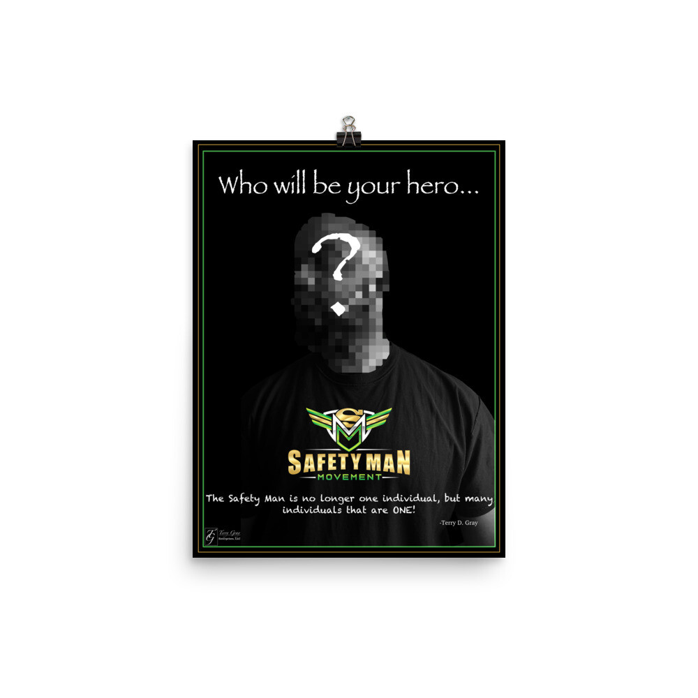 Safety Man Movement Poster