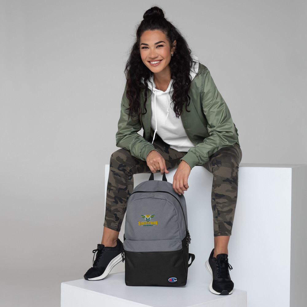 Safety Man Movement Embroidered Champion Backpack