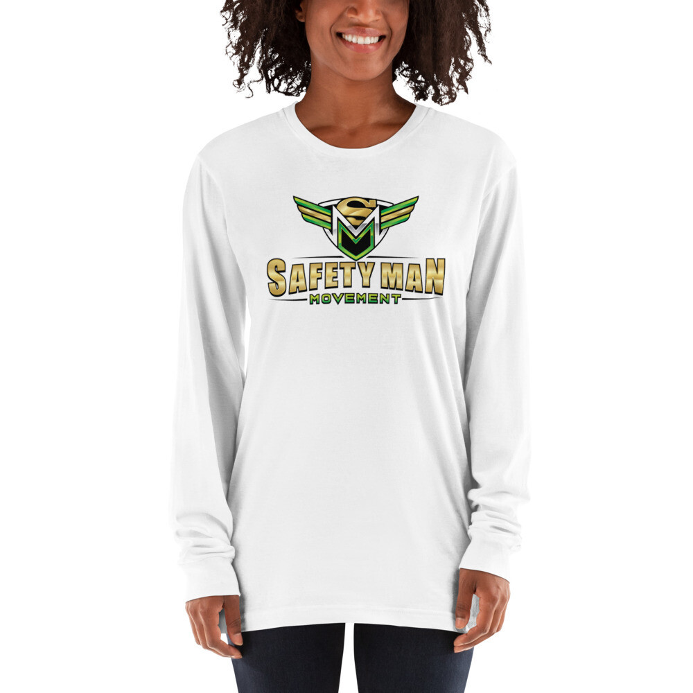 Safety Man Movement White Long sleeve t-shirt