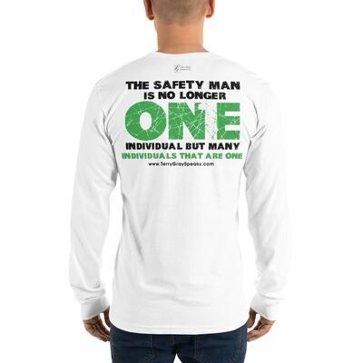 Safety Man Movement White Long sleeve t-shirt