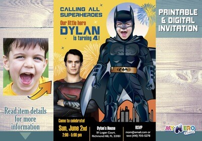 Batman Invitation. Turn your child into Batman. 064