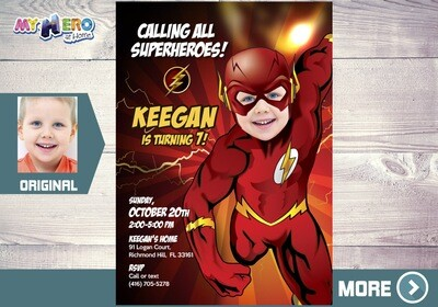 Flash Party Invitation, Flash theme birthday, Get here in a Flash Birthday, Flash Party, Flash Digital, Flash Virtual, Flash Drive-By. 149