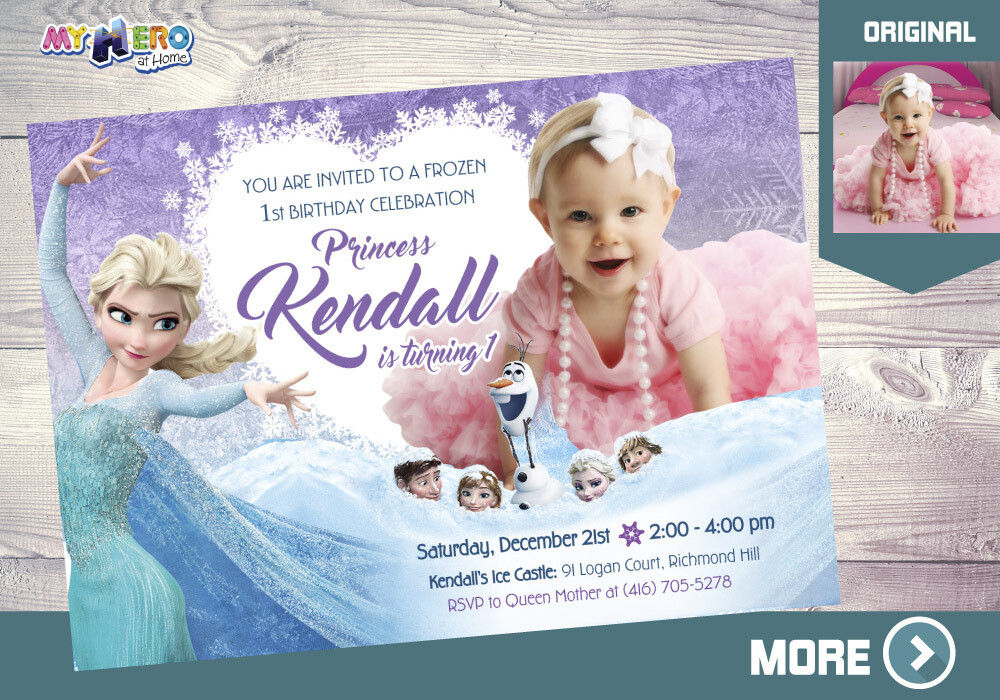 Frozen 1st Party Invitation. Frozen 1st Birthday Invitation. 267
