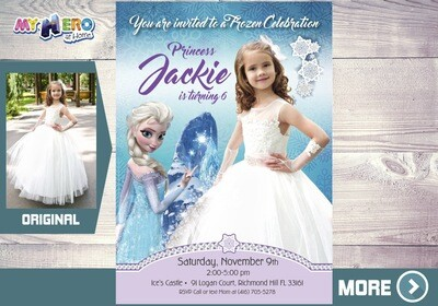 Frozen Invitation with your child in her Princess Dress. 271